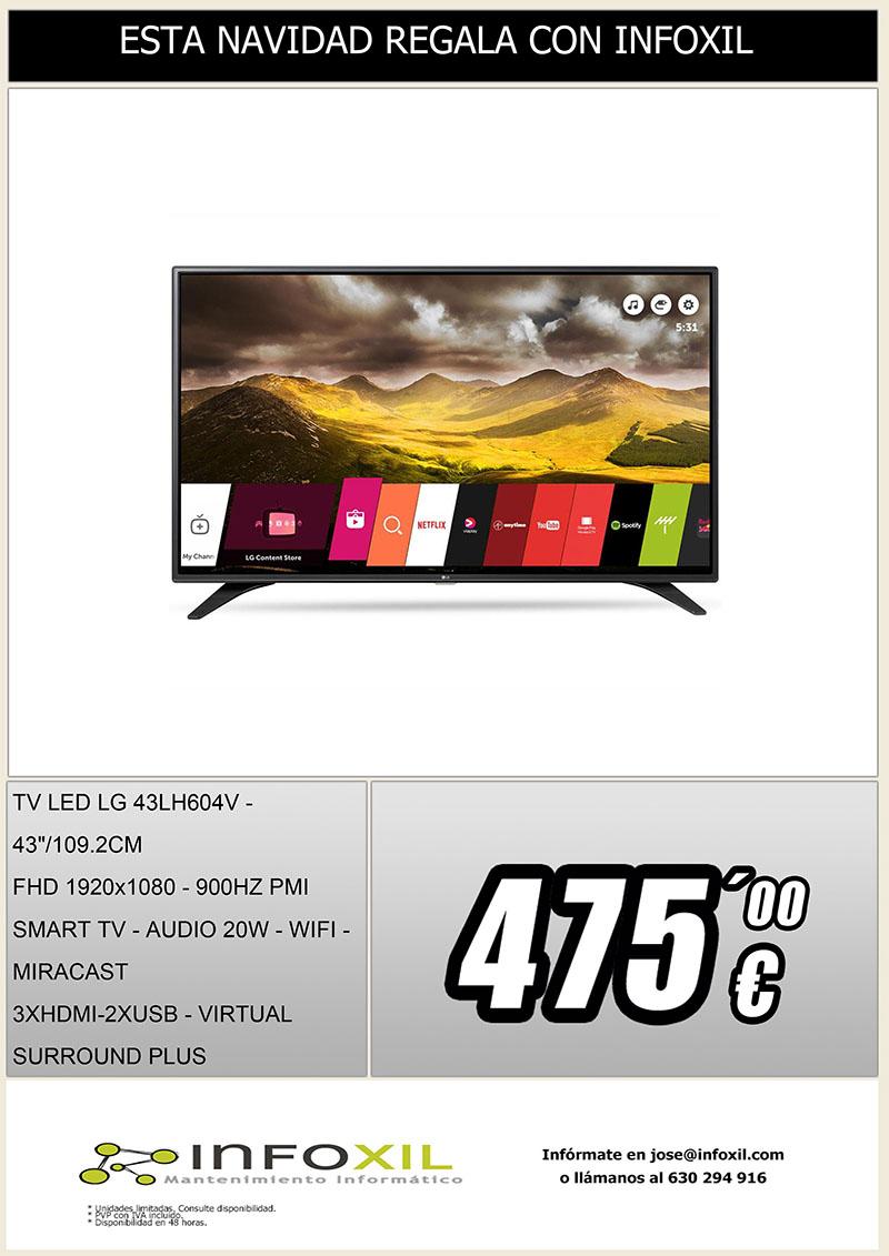 Cartel LGE-TV 43LH604V
